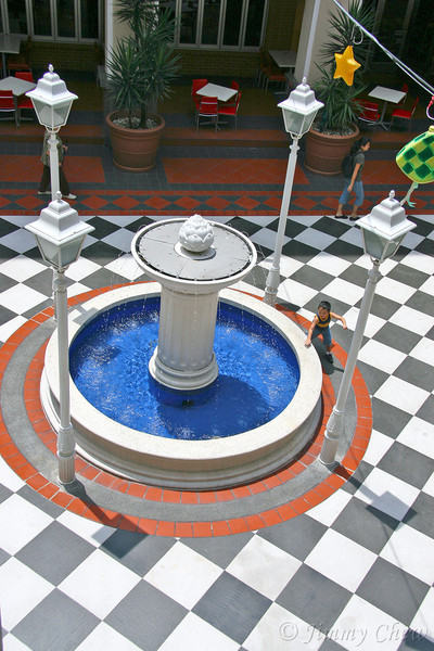 Water fountain at the courtyard.