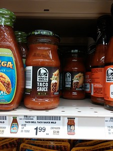 Yes, the crap sold by fast food chains is now invading our store shelves. Just in case you're really hankering for some Taco Bell sauce and don't want to actually buy anything from Taco Bell...