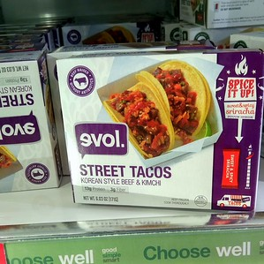 "Because nothing's more ""street"" than buying it frozen in a supermarket."
