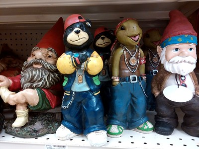 Just whate everyone wants:  lawn ornaments with a pissy attitude.