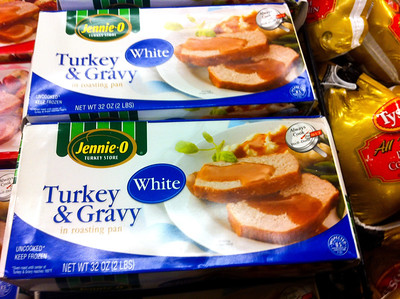 Is it me, or is this the saddest Thanksgiving dinner of all time?  That meat looks like *spongecake*.