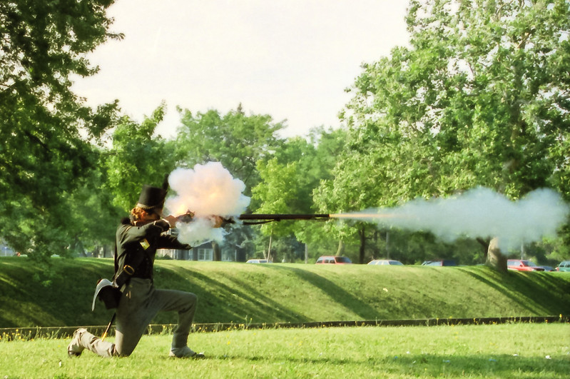 American Infantry Reenactor at Niagra Fort