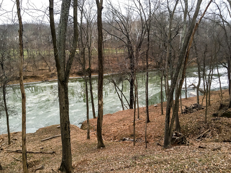 Creek Frozen Right Before #Snowzilla