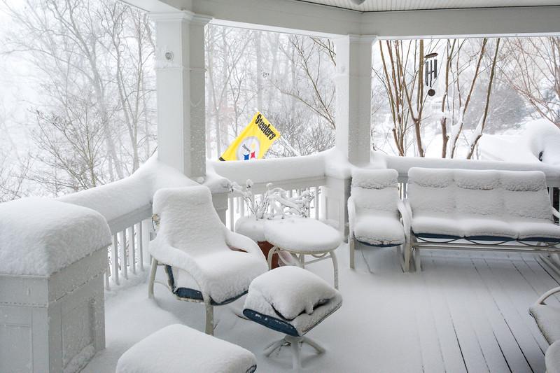 Covered Porch in #Snowzilla