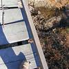 A Look Down at the Bridge Deck and Creek Below.