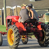 Boys on tractors