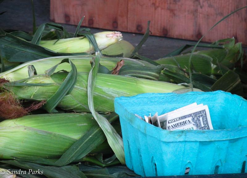 8-18-15:  Gotta love self serve corn on the cob.