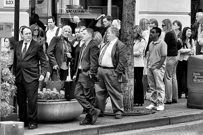 Extras waiting for their cue  | Canon EF 70-300mm f/4-5.6 IS USM