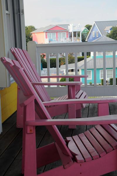 Pink Adirondacks, Kure Beach, NC