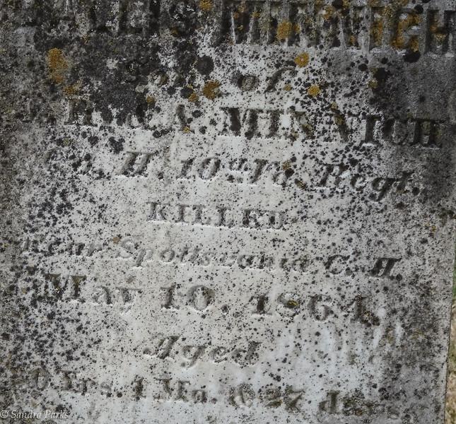 Killed, Spottswood Court House