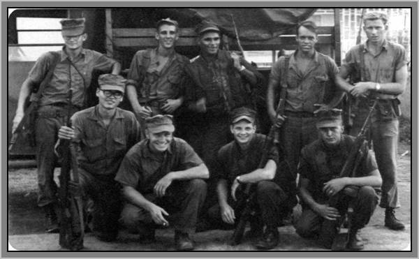 "Part of the MCB-7 ""Dirty Dozen""<br /> Ray Cochran far left, middle"
