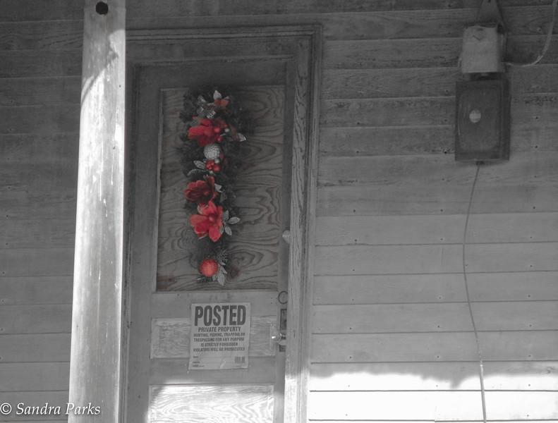 12-27-15: Christmas decoration, abandoned house.