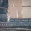 7-18-15: Records in abandoned store window, Walkers Creek.