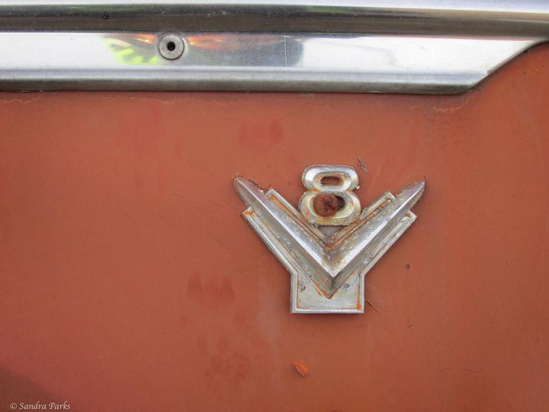 2-4-15: on an old car, Muddy Creek Road