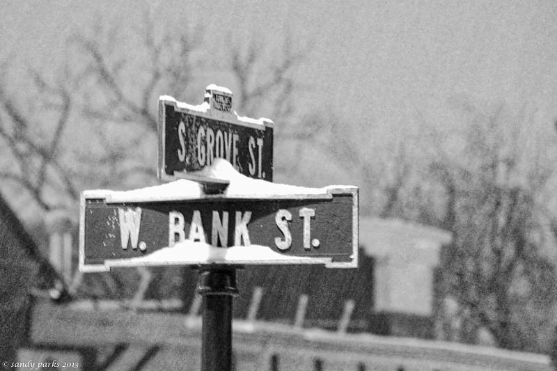 2-12-14: Bank Street, beginning of storm