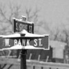 2-12-14: Bank Street, beginning of storm