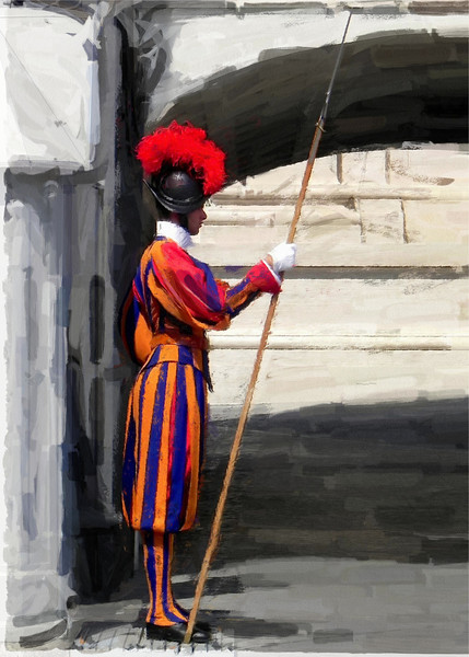 Swiss Guard at Vatican, Rome