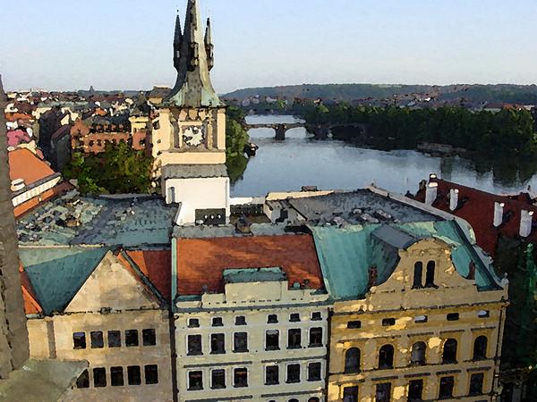 Prague Rooftops, Prague, Czech Republic