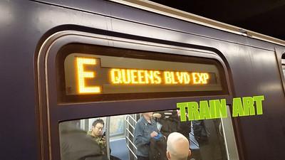E Train Art- NYC Subways