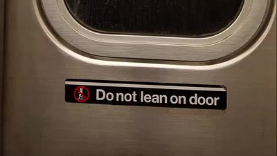Do not lean....
