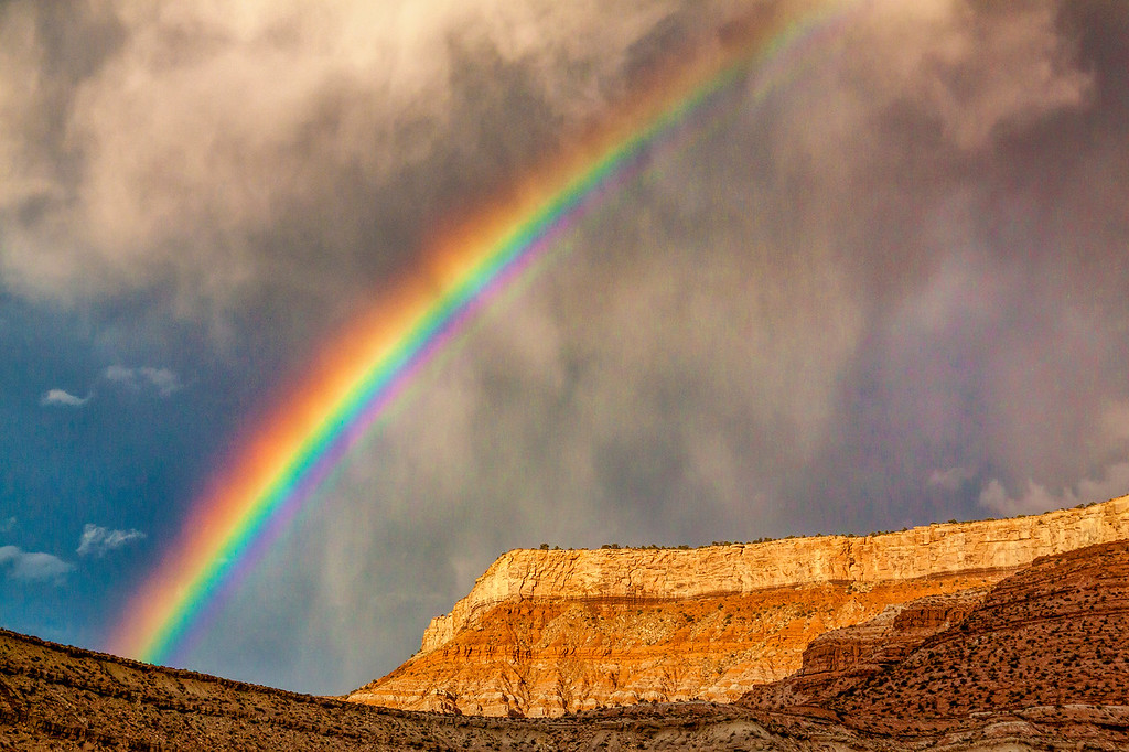 Rainbow at Zion Nation Park, Utah