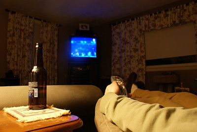 Decompress: The end of a rough week...time to have a beer and watch the olympics.