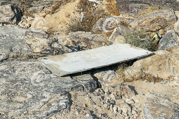Trash Pollution in a Dry Negev Desert Stream Bed