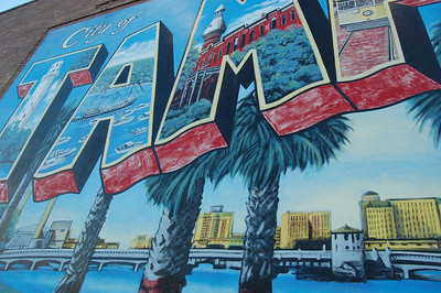 A mural for Tampa, on the outskirts of downtown.