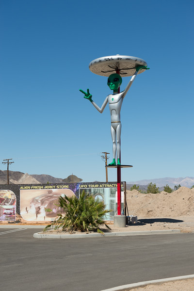 Baker, CA;  I am not sure why they are into UFOs.