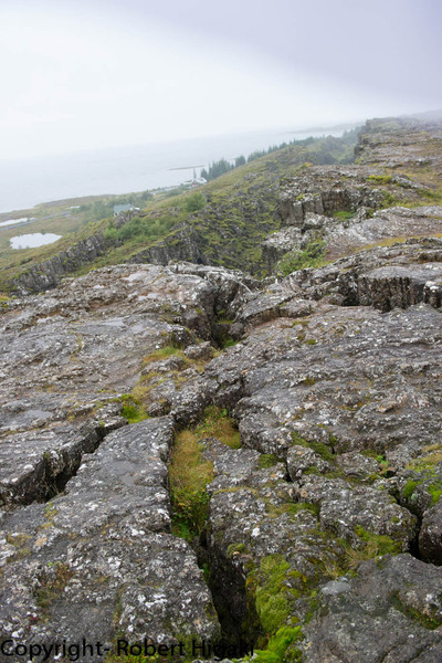 Iceland: this shows the two tectonic plates separating; not a good place to build a house!
