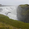 Iceland: Gullfoss<br /> horrible conditions; rain and wind together; I got drenched but I had two bowls of hot, lamb stew to warm me up.