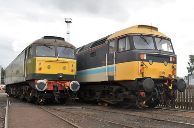 47830 and 47712, Crewe Heritage Centre. 01/08/18.