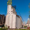 Wheat silos.