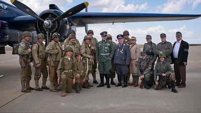 Allied and Axis Reenactors, D-Day Commemoration, 2017