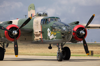 The Yellow Rose, a WWII B25 bomber operated by the Commemorative Air Force, D-Day commemoration at the Silent Wings Museum, 2013, Lubbock, Texas.