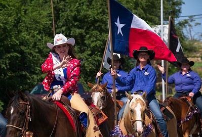 Riders in the 4th of July festival in Lubbock, 2017.