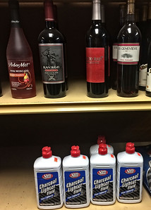 Wine selection at the local Quick Stop.