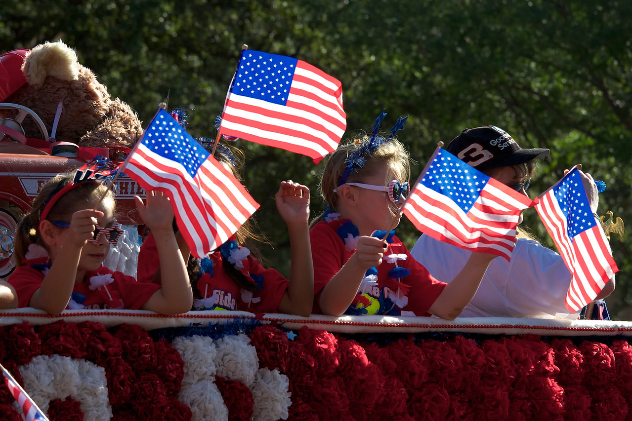 A float in the July 4th, 2012 parade in Lubbock, Texas.