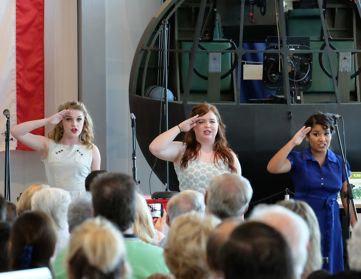 70th Anniversary of D-Day at the Silent Wings Museum; 2014. A group of local singers put on a USOtype show of 1940s music in the museum.