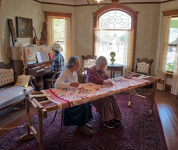 Quilters at Ranch Days, Ranching Heritage Center, Lubbock, Texas 2018. HDR exposure, three images.