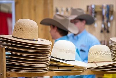 Hat sellers, National Cowboy Symposium, Lubbock TX, 2018.