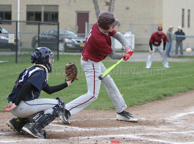 Action during the Odessa-Montour and Watkins Glen baseball game, April 24, 2015.