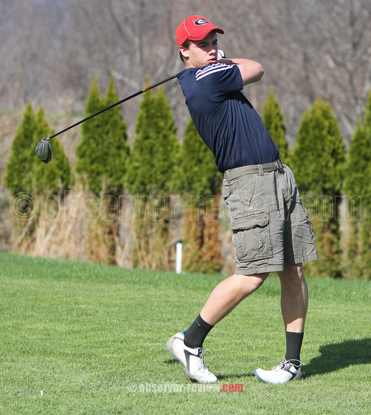 Action from the first group during the Odessa-Montour and Watkins Glen boys golf match, April 29, 2015.