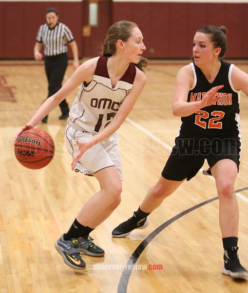 Odessa-Montour Girls Basketball 2-12-16.