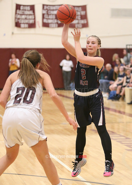 Odessa-Montour and Watkins Glen Girls Basketball 1-13-16.