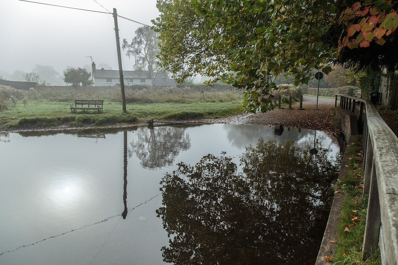 North Warnborough ford, on a misty autumn morning