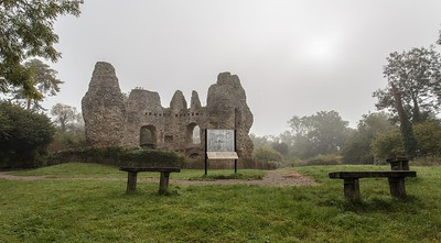 Odiham Castle through the autumn mist
