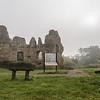 Odiham Castle through the autumn mist