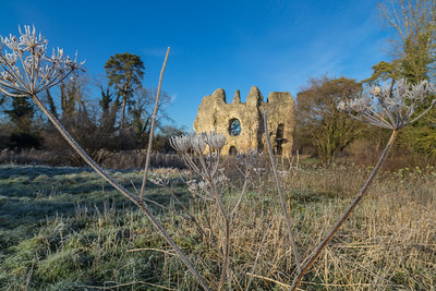 Odiham Castle in winter