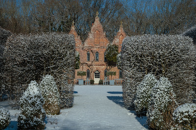 King John's Hunting Lodge, Wilk's Water in the snow